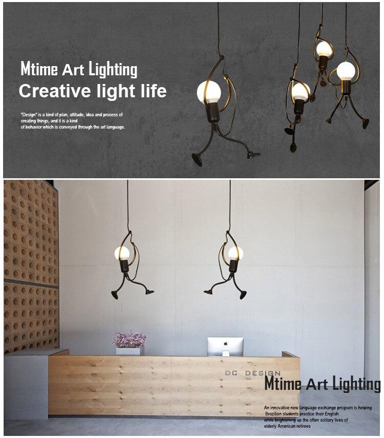 Novelty Pendant Lighting Fixtures Black Iron Dining Room Cafe Restaurant Lamps Modern Hanging Light Suspension Luminaire 2