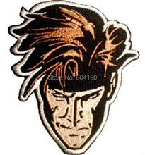 "4"" Marvel Comics Gambit Face X-men Magneto Xavier School Cyclops Embroidered Movie Iron On Patch Custome TRANSFER MOTIF APPLIQUE(China)"