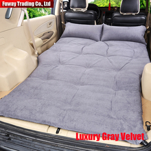 Automatic Inflatable Deflatable Air Inflation Car Bed Mattress Drive Camping Flocking PVC Material Travel Seat Cover