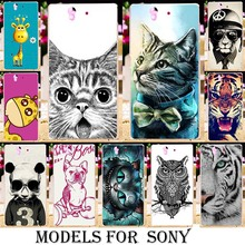 Silicone TPU Plastic Animal Pattern cases for Sony Xperia Z V S L36H L36I ZL L35h Z1 L39H Lt25i LT25h Lt26i XL39H Covers shell