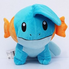 18cm Anime Mudkip Plush Toy Soft Stuffed Dolls for Children