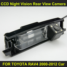 CCD night vision with 4 LED lamps Car Rear View Reverse Camera for TOYOTA RAV4 2000-2012 Car 8006LED