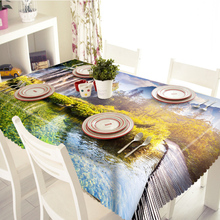 Manhaton Stree View 3D Table Cloth 100% Polyster Digital Printing DiningTable Cover Dustproof Washable Toalha De Mesa