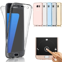 S7 Edge / S8 Fashion 360 Degree Full Protection Case For Samsung Galaxy S7 Edge S6 Plus Transparent Soft Thin Silicone TPU Cover