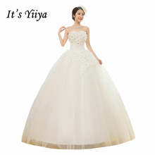 Buy Free Vestidos De Novia Real Photo Flowers Strapless Wedding Dress Cheap Princess White Bride Frocks Ball Gowns HS202 for $34.20 in AliExpress store