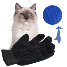 Pet Hair Glove Comb Silicone Pet Grooming Massage Bathing Brush Comb Gentle Easy Clean Hair Brush For Cat(China)