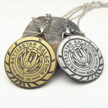 "Battlestar Galactica Series BSG 75 Goldtone Pendant Necklace with 20"" Chain  2 color 12pc/lot"
