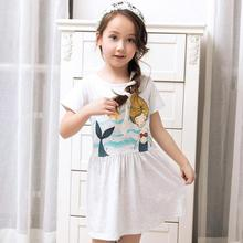 fashion newborn baby girl dress summer cotton cartoon printed fabric for kids clothes for girls 8 years childrens fancy dress