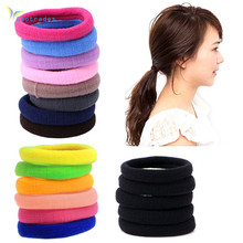 50pcs/set Hair Bands lowest price for beautifully womens Girls Elastic Hair Ties Band Rope Ponytail Bracelet 2017 New arrival(China)