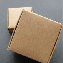 Small 4*4*2cm Kraft Paper Gift Box for Jewelry Pearl Candy Handmade Soap Baking Box Cake Cookies Chocolate Package Packing Box