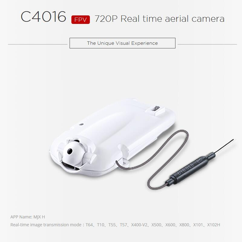 Newest Update C4016 FPV WIFI 720P HD Camera for MJX T64 57 X400-V2 X500 X600 X800 X101 X102H RC Helicopter C4010 Updated version<br>