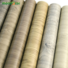 45*500cm Waterproof fabric stickers roll vinyl PVC wallpaper furniture wood grain paper self adhesive film wardrobe door sticker