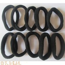 Hot Simple Black 10pcs Women Girls Elastic Hair Ties Band Rope Ponytail Bracelets Scrunchie(China)