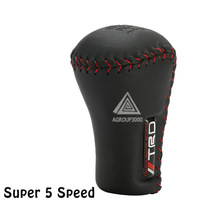 Partol Super 5 Speed TRD Leather Truck SUV Manual Transmission Car Gear Stick Shift Shifter Lever Knob Cover Stitches for Toyota