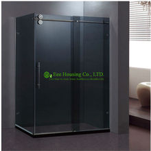 Shower Room best price Whole Shower 304 stainless steel Complete Square Sliding Mobile Frameless Sliding Tempered Glass(China)