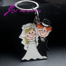 His and Hers Key Chains Just Married Key Chain Wedding Gift anniversary Gift  for Lovers jewelry wholesale 2017