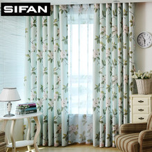 Pink Floral Green Leaves Printed Window Curtains for Living Room Bedroomn Curtain for Girl Kids Room Princess Sheer(China)