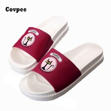 new summer Women sandals Fashion slippers Prevent wear-resisting girl beach shoes cartoon wholesale white red black(China)