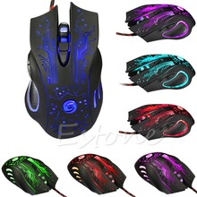 Computer Accessories Professional 5500DPI 6 Buttons USB Optical Wired Gaming Mouse Mice For PC Laptop(China)
