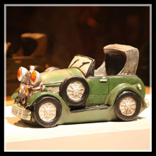 Resin Convertible Classic Car Antique Car Miniature Figurines Desk Decoration Ornamentation Crafts Smart Home ElimElim(China)