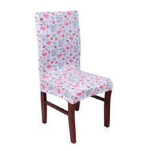 Flamingo Printed Removable Chair Cover Stretch Elastic No Armrest Slipcover For Wedding Banquet Folding Hotel Chair Covering(China)