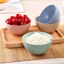 Healthy Wheat Straw Bowl Baby Kids Rice Bowl Fruit Salad Saucer Ketchup Bowl Dishes Children Tableware Travel Dinnerware(China)