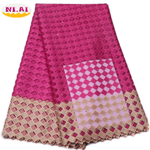 Pink Latest African Laces Fabrics Embroidered African Guipure French Lace Fabric 2017 African French Net Lace Fabric XY480B