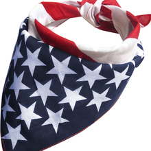 2017 New Arrival Women Headbands American Stars and Stripes USA Flag Bandana Hair Band 51x51cm