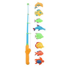 Funny Educational Fish Game Magnetic Fishing Pole Rod Fish Model Set Kids Toy Outdoor Fun Toys