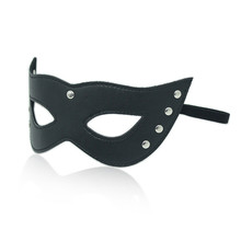 Buy Sexy lingerie Sex Mask Porn Lingerie Sexy Black Hollow leather Mask Erotic Costumes Women Sexy Lingerie Hot Cosplay Eye Masks