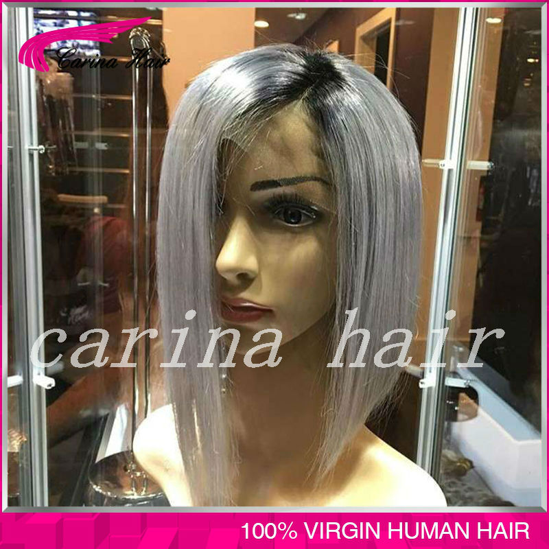 Top Grade Color Two Tone Brazilian Lace Front Wigs Full Lace Human Hair Wigs Bleached knots silk straight hair Glueless wigs<br><br>Aliexpress