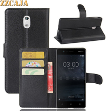 ZZCAJA For Nokia 5 Case Luxury Wallet Designs with Card Slot Stand Business Flip Phone Shell Bag PU Leather Cover for Nokia 3 6(China)