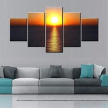 Beautiful Sunset Wall Art Fashion Scene Sunrise Landscape Canvas Painting for Office Home Decor Modular High Quality Best Gift(China)