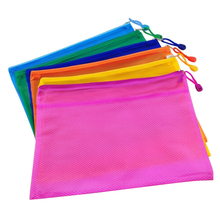 5Pcs/Set Waterproof Double Layer Zipper A5 File Bags Matte Style Oxford Cloth File Holder School Stationery Bag Home Storage Bag