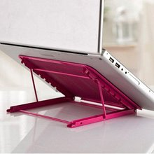 Portable Folding/Adjustable Mesh Laptop Notebook/ Book/ipad Table /Desk/ Tray /Stand /Cooling Stand,Hot Pink(China)