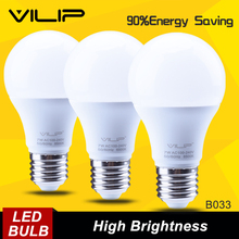 Vilip HOT sale E27 LED Bulb Cold/Yellow Light SMD2835 220V 7W Global LED Bulb Lampada  High Luminous Led Lamp b033