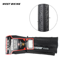 WEST BIKING 700*23C Folding Tire 60TPI Mountain Bike Bicycle Tires Neumaticos Suit For City Competition Cross-country Cycling