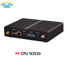 Partaker P4 Windows 10 Smallest Fanless Mini PC Quad Core with Intel N2920 N3510 N2930 N3520 N3530 J1800 1037u Processor