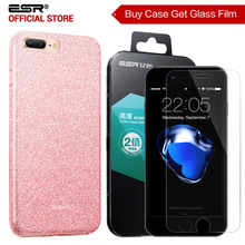 Case for iphone 8/8 Plus, ESR Sparkle 3-Layer Soft TPU Case for iPhone8/8 Plus/7 [Buy 1 get 1 Glass Screen Protector for free](China)