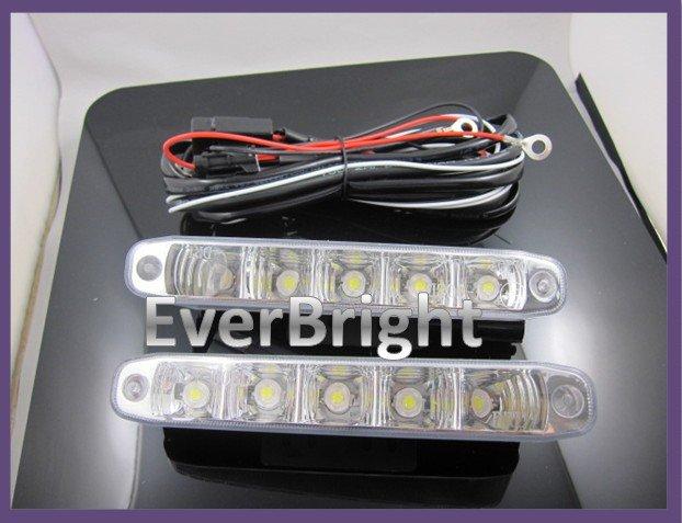 Daytime Running Light 5 Leds / Pcs 2*5W High Power Led DRL Super Brightness AD - 5LED<br><br>Aliexpress
