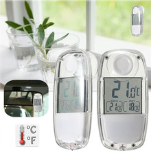 New Arrival Mini Solar Power Window Gardening Digital LCD Indoor Thermometer Hygrometer Temperature Humidity
