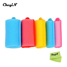 27pcs Self-Adhesive Foam Soft Sponge Plastic Hair Roller Curler Hairdressing Stick Salon or Home Use Accessories Large Bangs(China)
