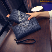 Crocodile Wallet large purse crocodile brand logo brand V tattoo women clutch purse women luxury brand grain purse ms zipper