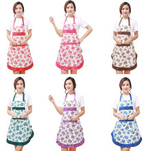 Beautiful Women's Waterproof Aprons Housewife Clean Kitchen Waist Aprons Kitchen Restaurant Gowns Jeanette Floral