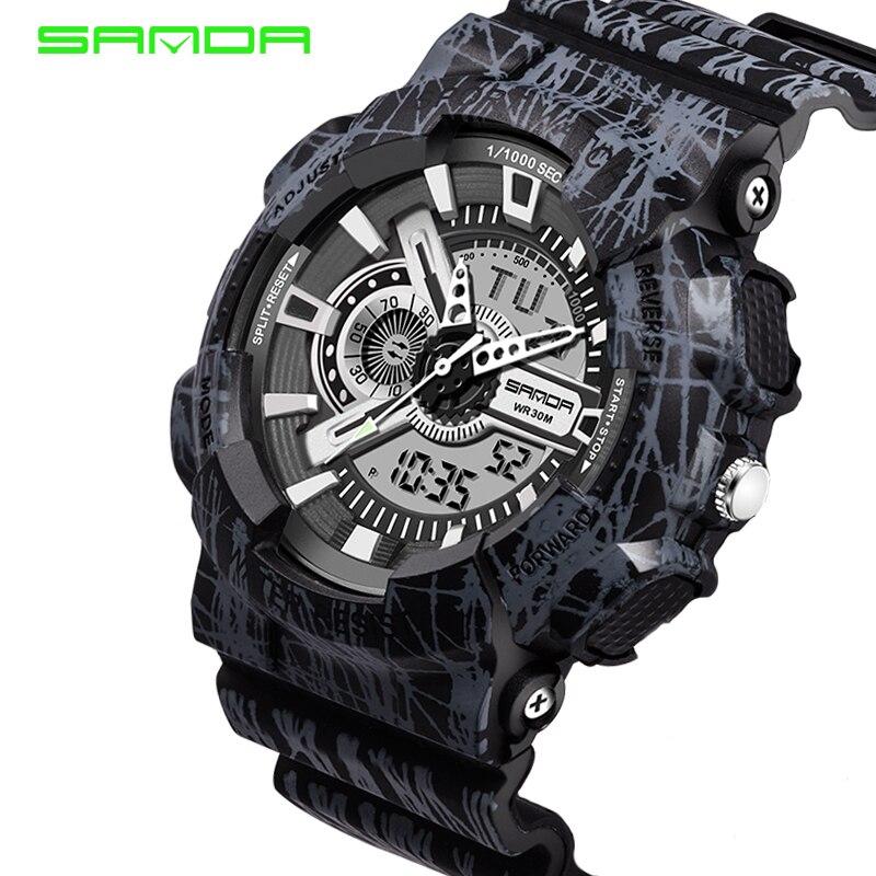 Sanda S Shock Men Sports Watches 30M Swim LED Digital Military Watch Fashion Outdoor Wristwatches Waterproof Digital-watch Clock<br><br>Aliexpress