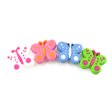 1pcs Lovely Cute Children Boys Girls Bedroom Cabinet Drawer Dresser Knobs Multi Color Betteyfly Shape Pull Handle With Screws