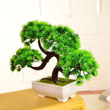2017 New Artificial Pine Bonsai Tree For Sale Floral Decor Simulation Flores Artificiais Desktop Display Fake Plant Home Decor(China)