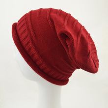 New Fashion Autumn And Winter Fold Casual Slouchy Beanie Cap Women Men Unisex Famous Red Beanie Warm Knit Wool Hood Hat 75AA631