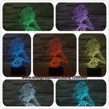 Novelty 3D Strange People Night Light LED Touch Switch Colorful For Child Gift Home Decor Creative Atmosphere Bedroom Desk Lamp