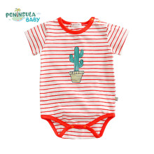 2017 New Summer Baby Bodusuits Striped Short Sleeve Jumpsuit Newborn Infant Clothes Cotton Kids Boys Girls Coverall